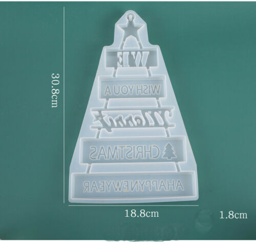 Resin Epoxy Mould Jewelry Casting Mold Wish Christmas Decor Silicone Craft Tool