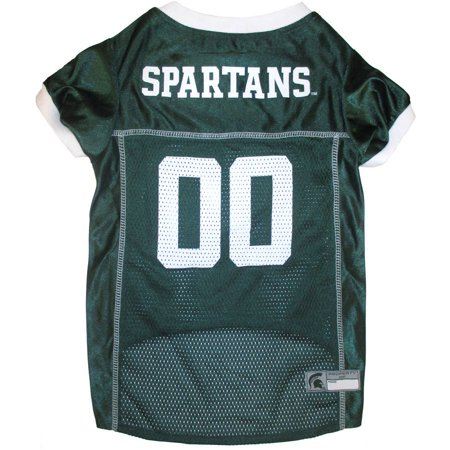 - Pets First College Michigan State Spartans Collegiate Dog Jersey, Available in Various Sizes