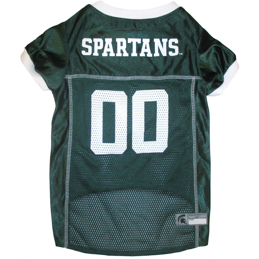 Pets First College Michigan State Spartans Collegiate Dog Jersey, Available in Various Sizes