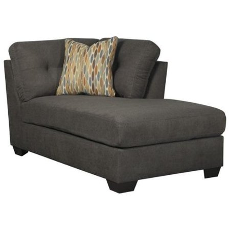 Ashley furniture delta city right corner chaise lounge in for Ashley microfiber chaise lounge