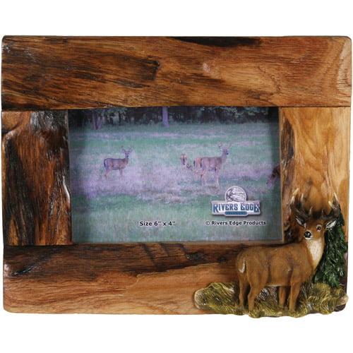 "Rivers Edge Products 4"" x 6"" Deer Fir Wood Frame"