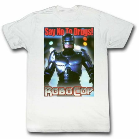 Robocop Movies Just Say No Again Adult Short Sleeve T (1980's Costumes Ideas)