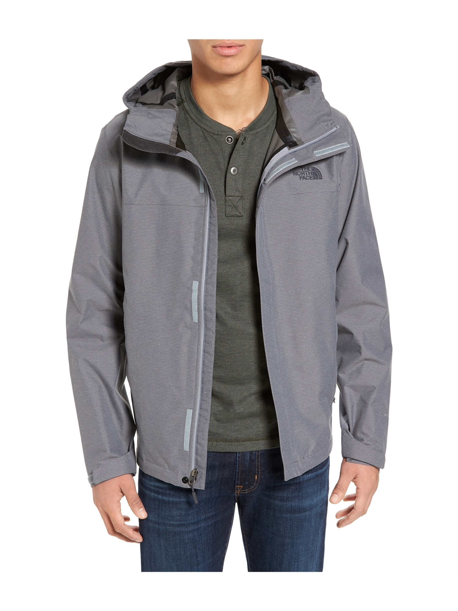 a037e3710 The North Face Mens Venture 2 Hooded Raincoat medgray 2XL