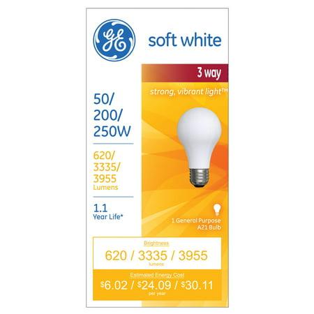 Ge A21 3 Way Light Bulb