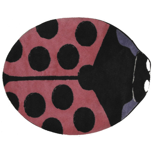 "Fun Rugs Pink Lady Bug 35"" x 39"" Rug"
