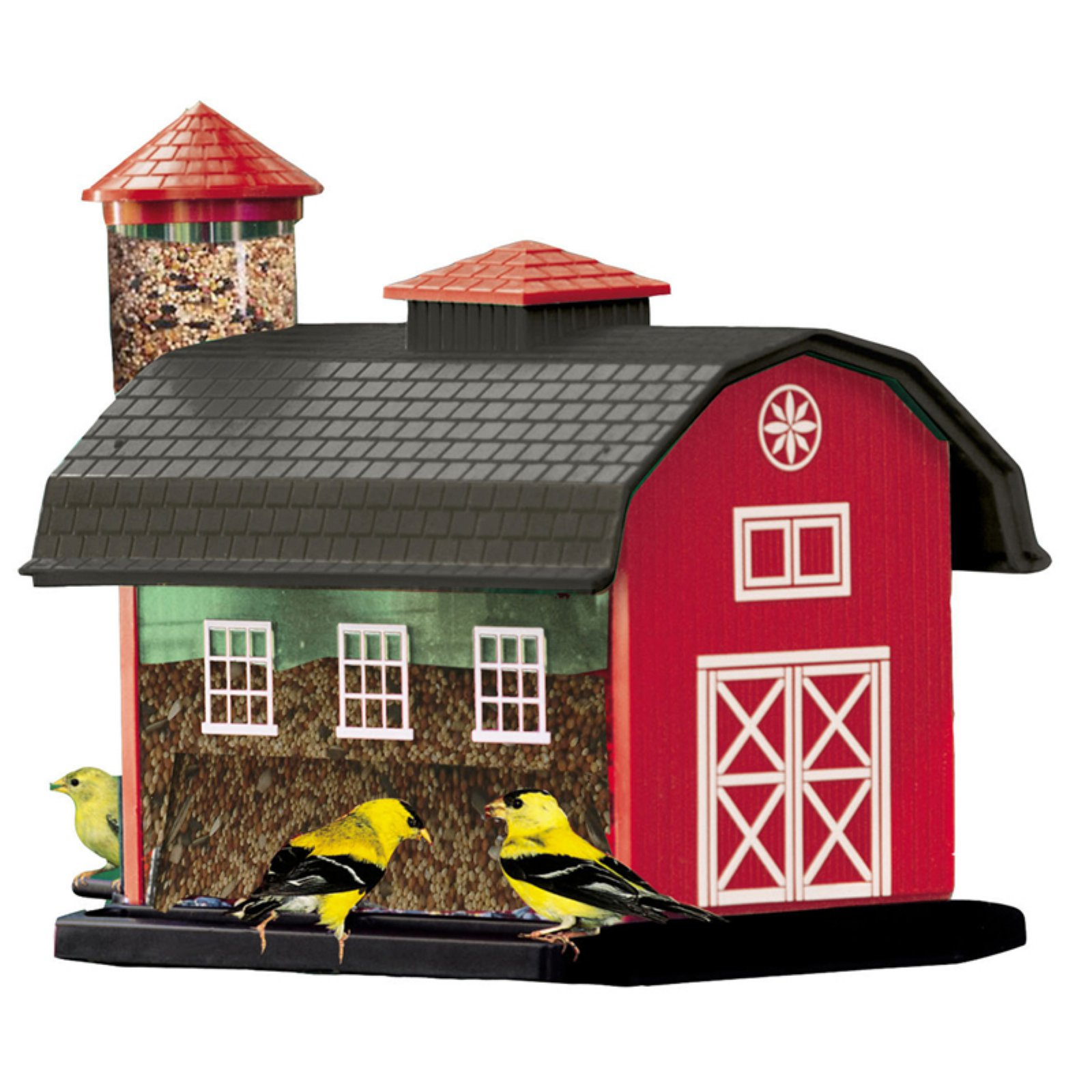 Audubon 6290 7 Lb Capacity Red Barn Combination Bird Feeder