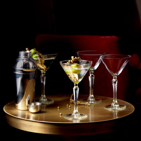 Libbey Capone Entertaining Set with 4 Martini Glasses and Shaker
