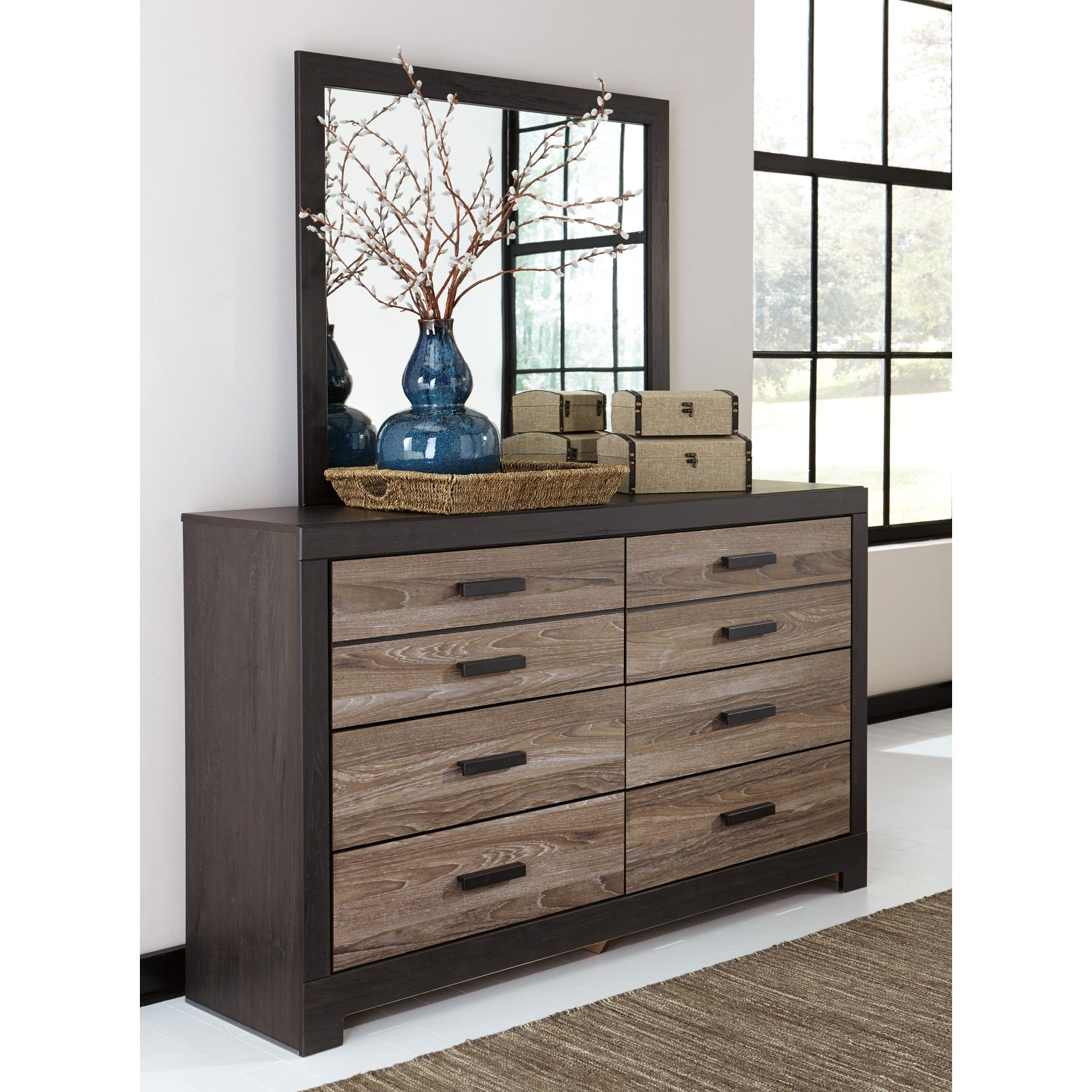 Signature Design by Ashley Harlinton 6 Drawer Dresser with Optional Mirror