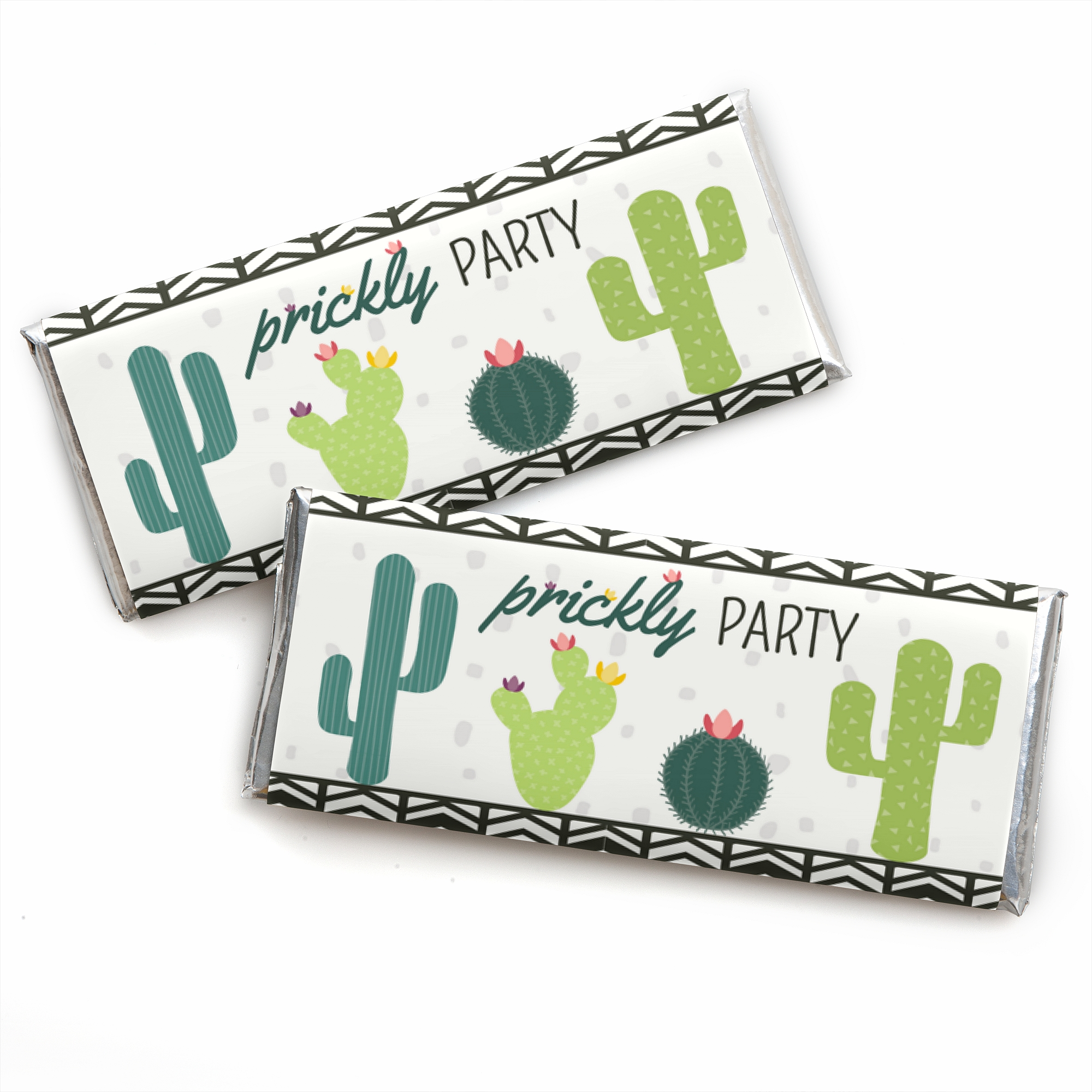Prickly Cactus Party - Candy Bar Wrapper Fiesta Party Favors - Set of 24