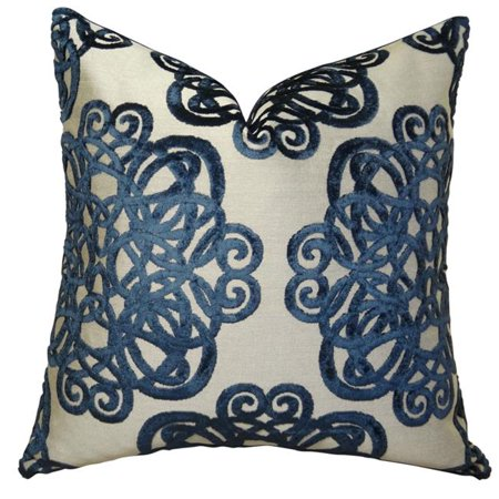 """Plutus Archetype Sapphire Handmade Throw Pillow, (Double sided 20"""" x 30"""" Queen) - image 1 of 1"""