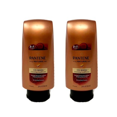 Set Of 2 Pantene Pro V Truly Natural Hair Co Wash Cleansing Conditioner