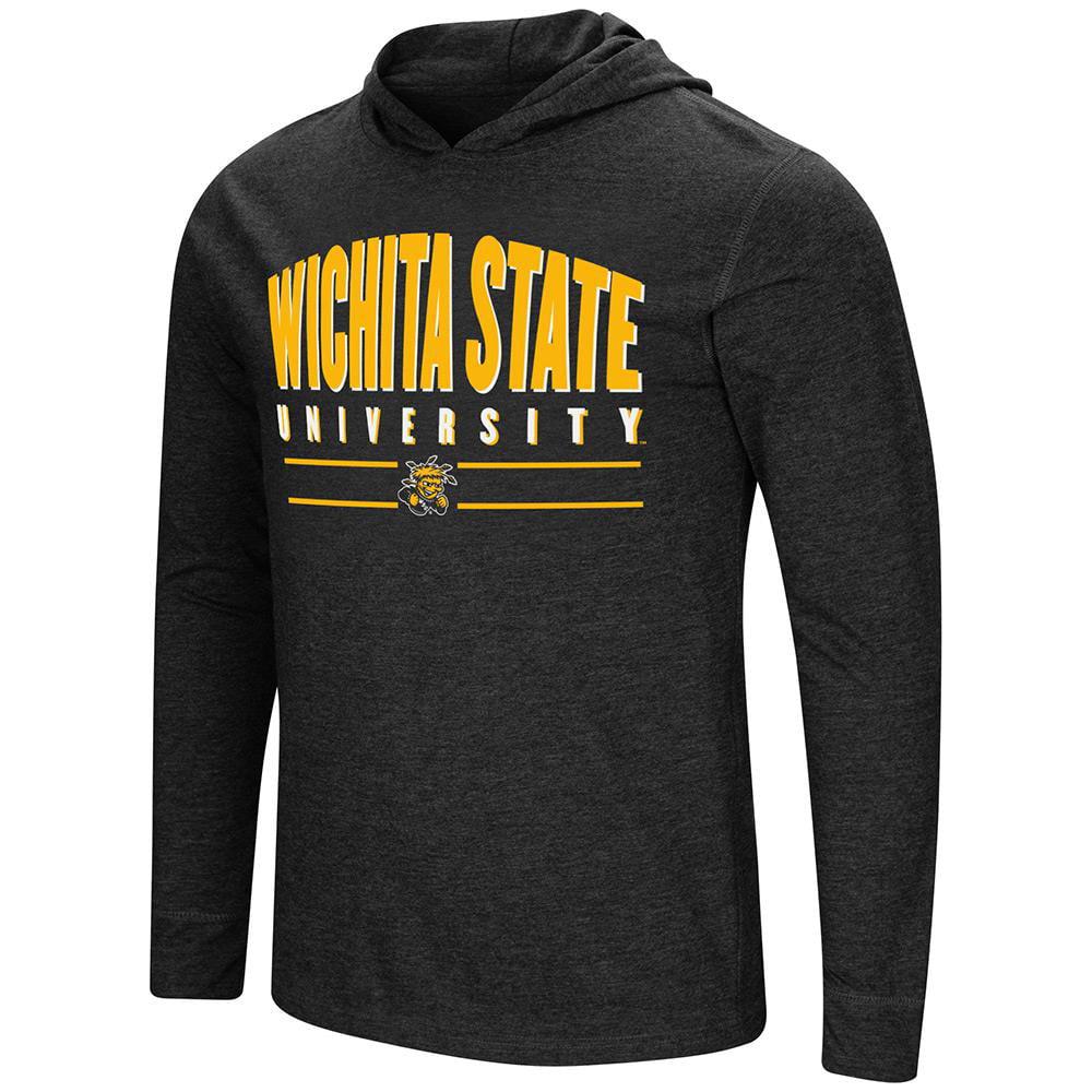 Mens Wichita State Shockers Long Sleeve Tee Shirt Hoodie - S