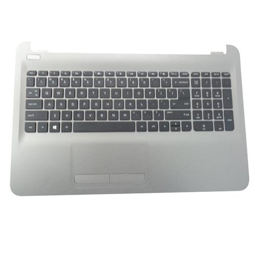 Genuine HP 15-AC 15-AF Silver Palmrest US Keyboard & Touchpad 813975-001