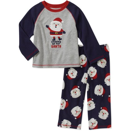 334a8bf8d33d Carters Infant Boys Staying Up For Santa Christmas Fleece Pajama Set ...