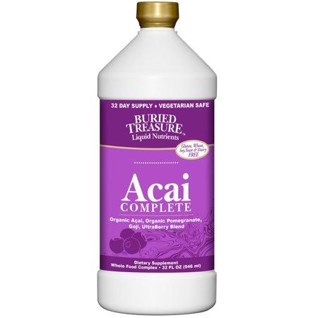 Buried Treasure Acai Complete Liquid, Ultra Berry, 32 Fl
