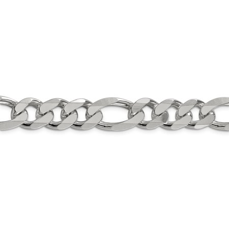 925 Sterling Silver 13.5mm Link Figaro Chain Necklace 20 Inch Pendant Charm Man Fine Jewelry For Dad Mens Gifts For Him - image 5 de 9
