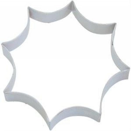 Spider Web Cookie (Spider Web White Poly Resin Coated Tin Cookie Cutter 6