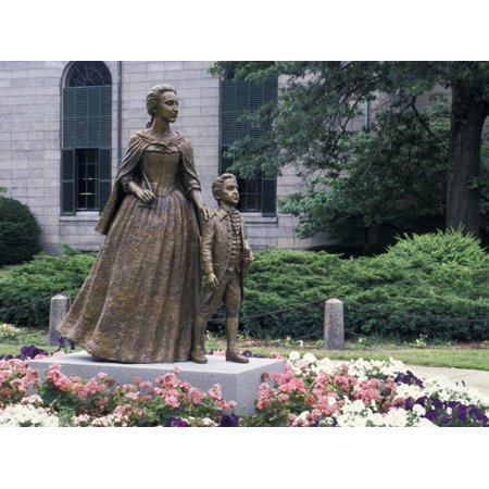 Statue of Abigail Adams with Son John Quincy Adams, Outside Adams Family's Church, Quincy, MA Print Wall - Home Depot Quincy Ma
