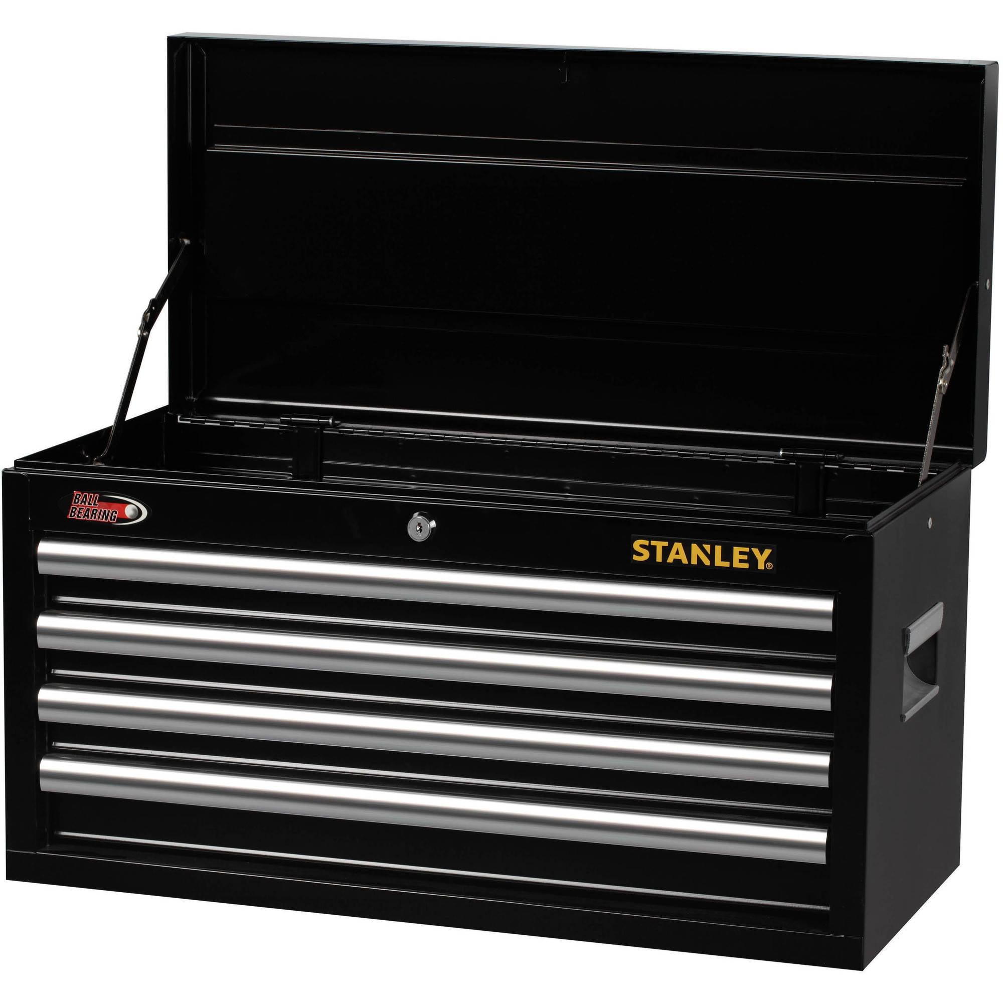 Stanley 4-Drawer Chest, Black