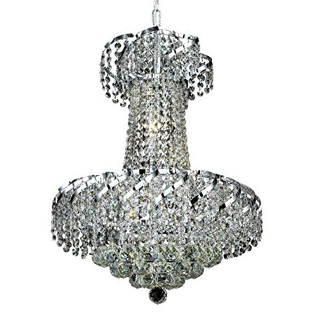 - ECA1 Belenus Collection Hanging Fixture D18in H22in Lt:6 Chrome Finish (Swarovski Strass/Elements Crystals)-Finish:Chrome
