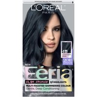 L'Oreal Paris Feria Multi-Faceted Shimmering Permanent Hair Color, 411 Downtown Denim, 1 kit
