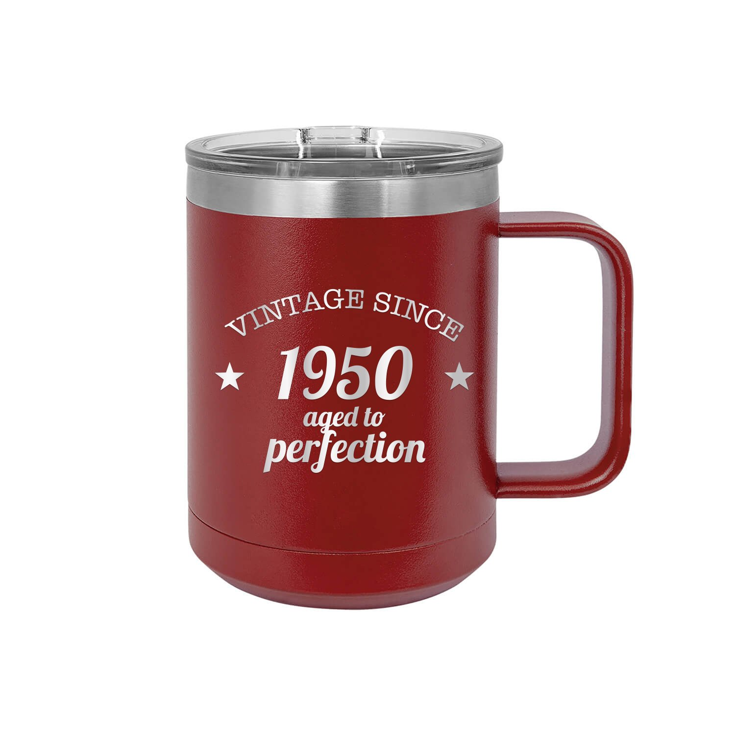 Vintage Since 1950 Aged To Perfection Engraved Coffee Mug With Handle Cup Unique Funny Birthday Gift Graduation Gifts For Women 70th Birthday Seventy Over The Hill Hilarious 1950 15 Oz Mug