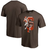 Baker Mayfield Cleveland Browns NFL Pro Line by Fanatics Branded Powerhouse NFL Player Graphic T-Shirt - Brown