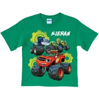 Personalized Blaze and the Monster Machines Team Green Youth T-Shirt