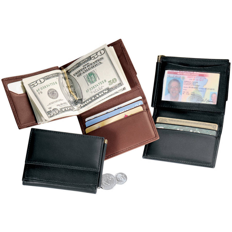 Royce Leather Men's Money Clip Bifold Wallet in Genuine Leather