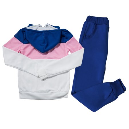 Casual Two-Piece Sportswear Hoodie Sweatshirt Tracksuit for Women, Women's Long Sleeve Sportswear Tracksuit Sets Tops with Sweatpants, Blue - Bunny Suits For Sale