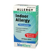 bioAllers Allergy Homeopathic Treatment for Sneezing & Congestion, Itchy Eyes & Headache Relief   60 Tablets