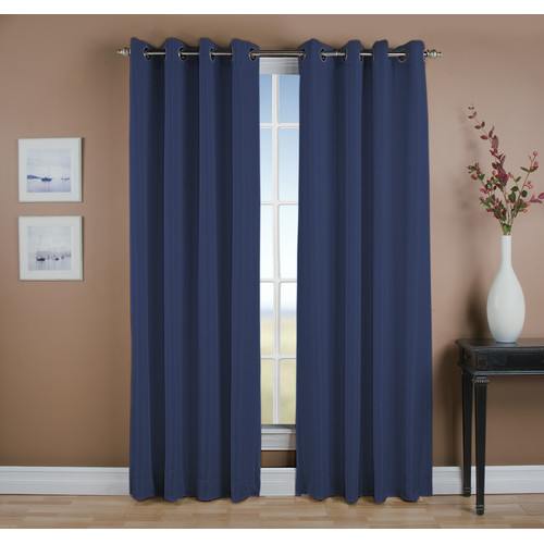 Ricardo Trading Grasscloth Grommet Thermal Blackout Single Curtain Panel