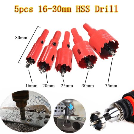 1PCS 16/20/25/30/35mm High Speed Steel HSS Hole Saw Tooth Kit Drill Bit Drilling Coated Woodworking Set for Steel Metal Wood Cutter Tool Father