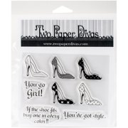 "Two Paper Divas Clear Stamps, 7.5"" x 6"", You've Got Style"