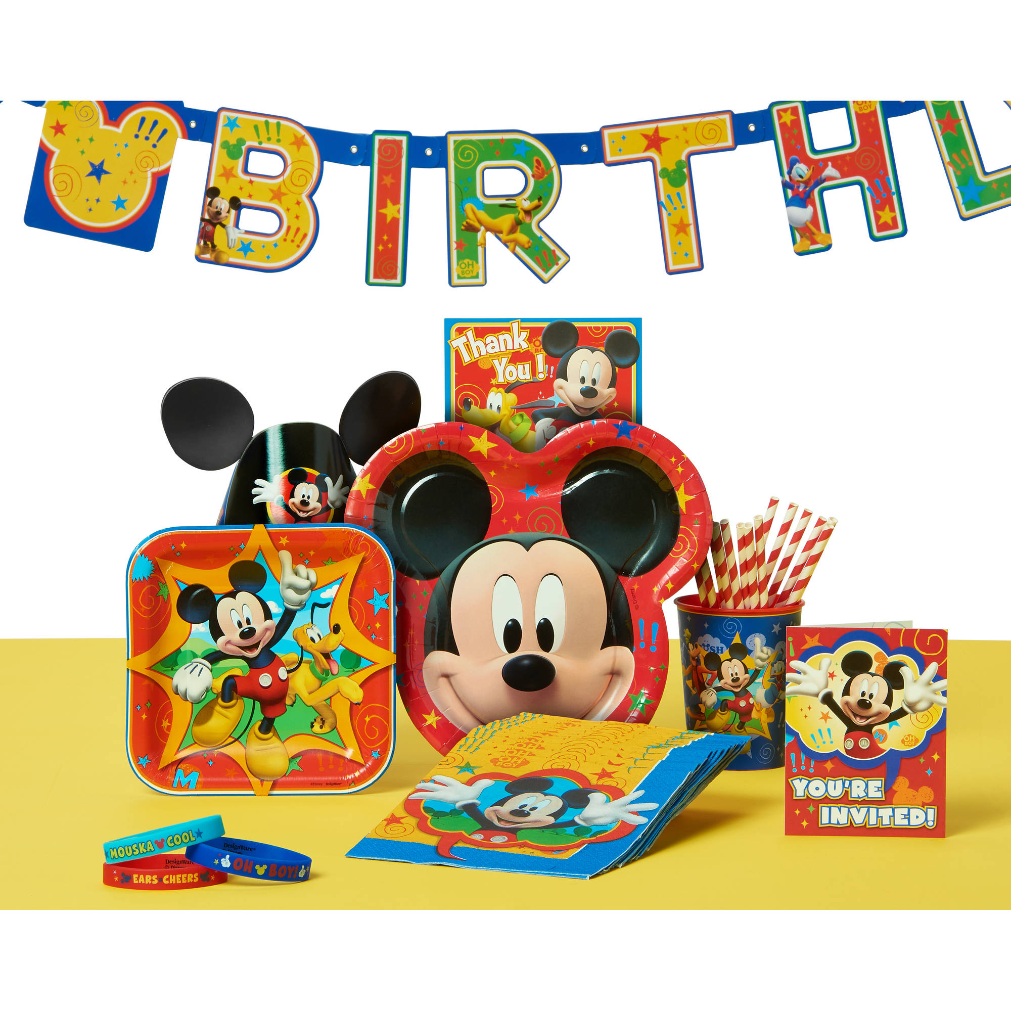 Mickey Mouse Clubhouse 7 Square Plates 8 Count Party Supplies