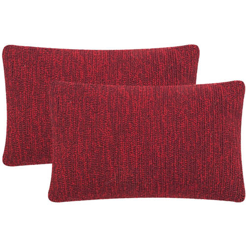 "Safavieh Soleil Solid 12"" x 20"" Indoor/Outdoor Pillow, Set of 2"