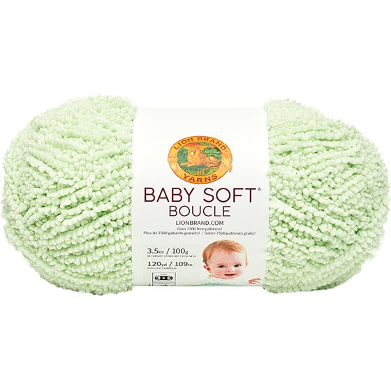 Lion Brand Baby Soft Boucle Yarn-Sprout - Walmart.com
