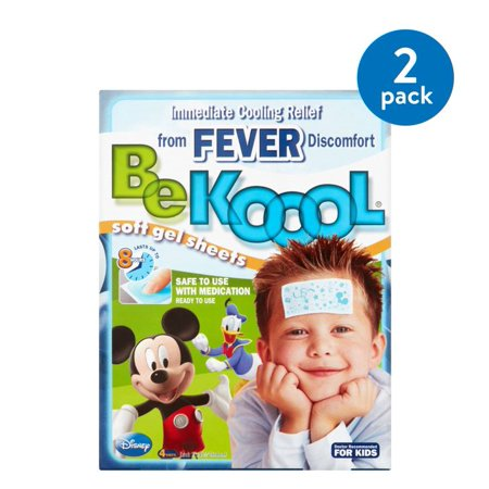 (2 Pack) Be Koool Soft Gel Sheets for Kids, 4