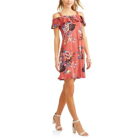 Women's Off the Shoulder Ruffle Dress