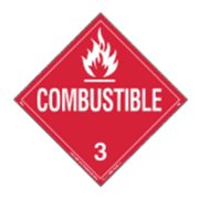 LABELMASTER 35ZL67 Combustible Liquid Placard,10-3/4inH G2005136