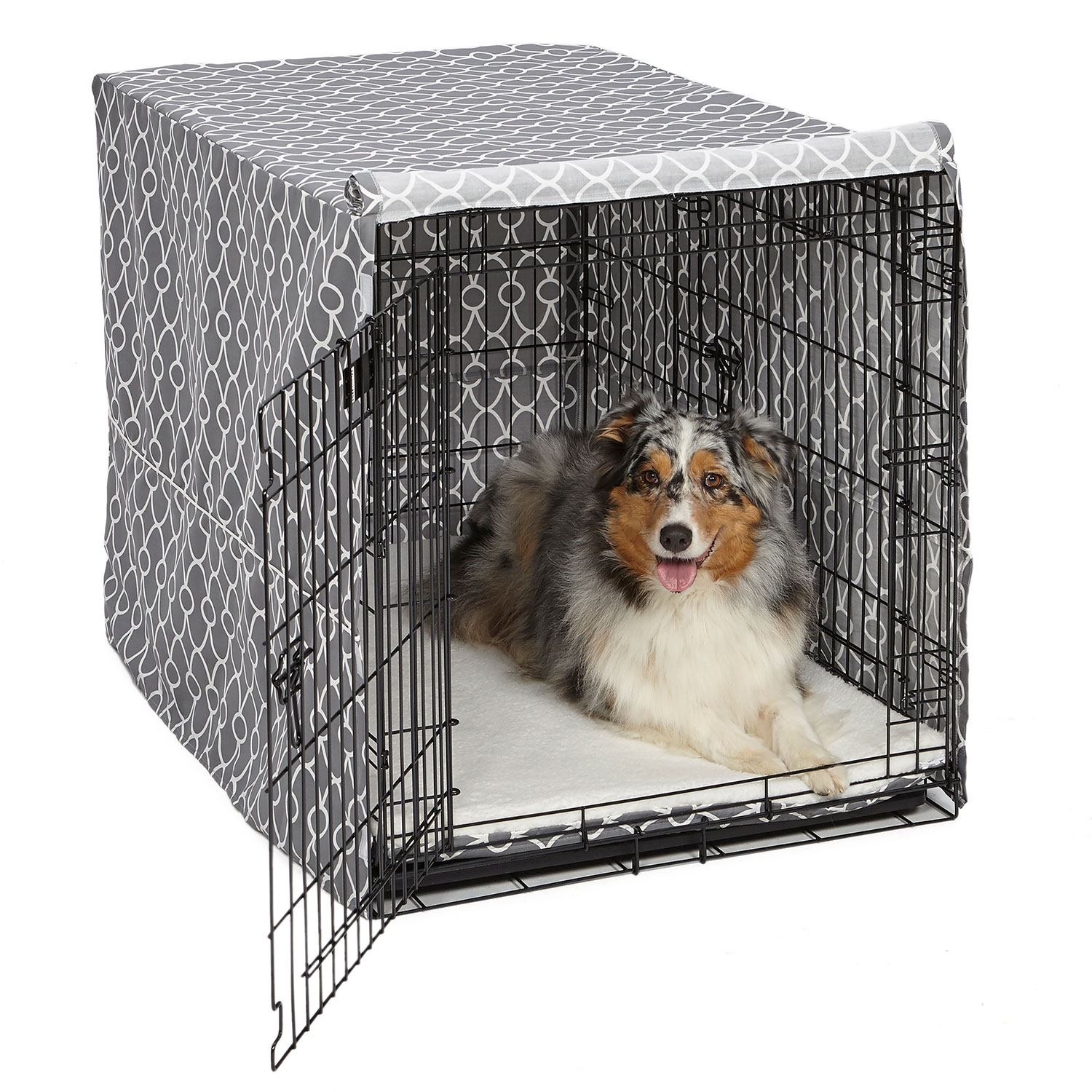 """Midwest QuietTime Defender Covella Dog Crate Cover Gray 24"""" x 18"""" x 19"""" by Midwest"""