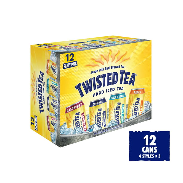 Twisted Tea Hard Iced Tea Party Pack 12 Pack 12 Fl Oz Walmart Com Walmart Com