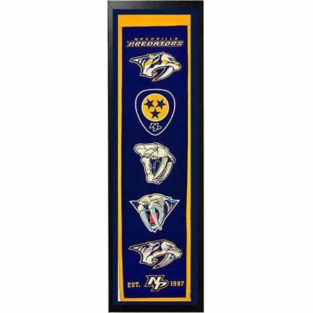 "NHL 14"" x 37"" Banner Frame, Nashville Predators by"