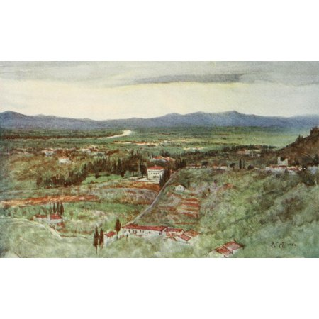 Florence   Some Tuscan Cities 1905 Green Plains Of Tuscany Canvas Art   Rc Goff  18 X 24