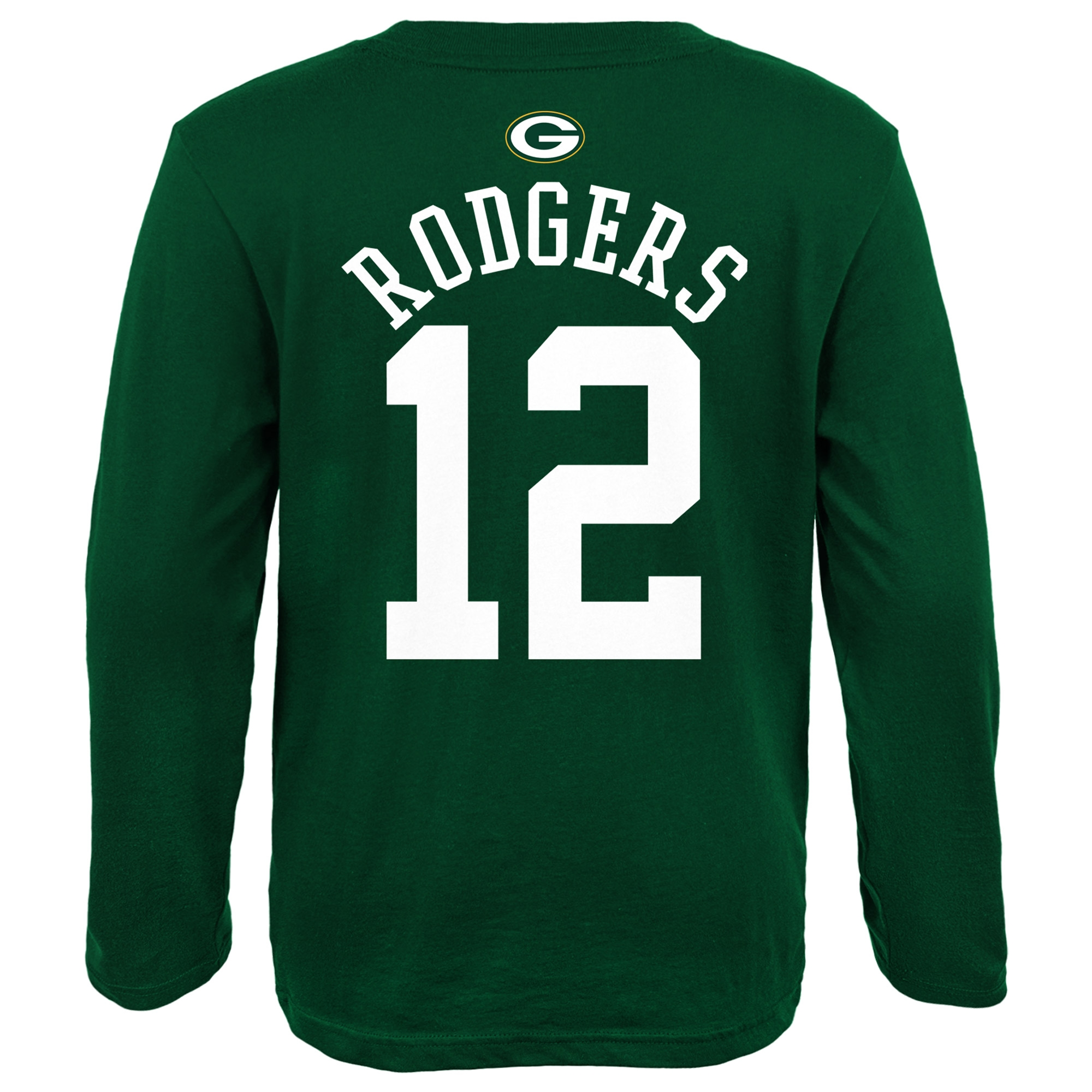 4a3f64e6 Aaron Rodgers Green Bay Packers Youth Primary Gear Name & Number Long  Sleeve T-Shirt - Green - Walmart.com