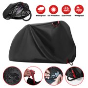 CALIDAKA Bike Cover - Waterproof Bicycle Storage Cover Outdoor Dust Wind Proof for Mountain Road Exercise Sport Bike(S/M/XL)