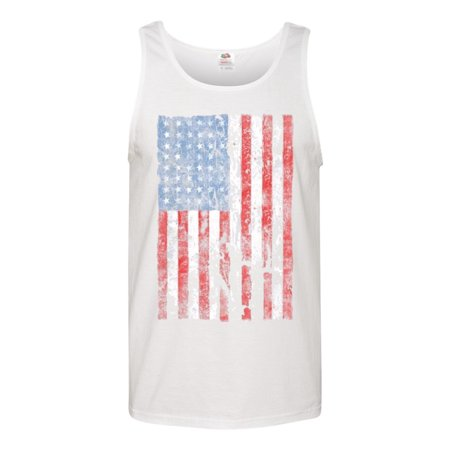 046202f0478098 Custom Apparel R Us - Distressed American Flag USA Patriotic Clothing Mens  Tank Top T-Shirt - Walmart.com