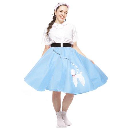 Sock Hop 50s Felt Poodle Skirt in Retro Colors - size Teen/Adult Small (Fifties Sock Hop Clothes)