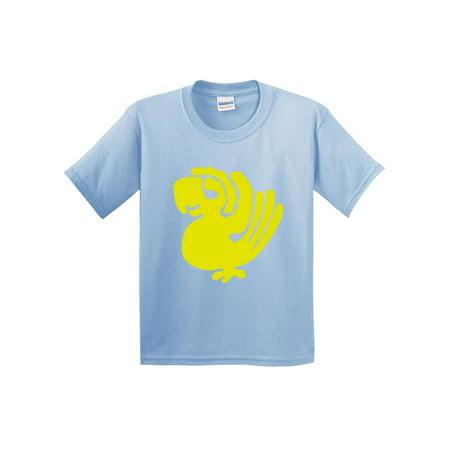 Trendy USA 817 - Youth T-Shirt Legends Hidden Temple LOTHT [Purple Parrots] Medium Light Blue - Trendy Costume