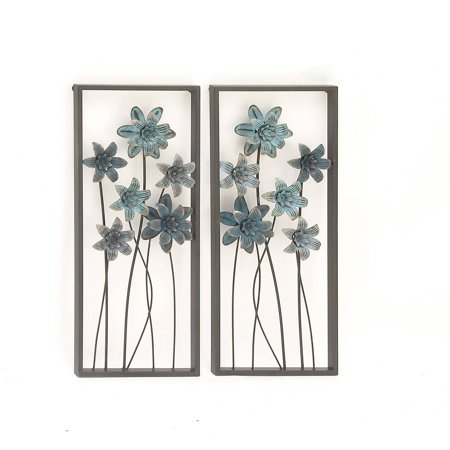 Attractive metal wall decor assorted 2 for Walmart art decor
